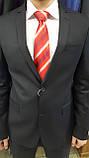 Червоний галстук з мікрофібри в діагональну смужку, фото 3