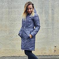 Зимняя куртка для беременных и слингоношения — Грей XS