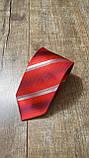 Червоний галстук з мікрофібри в діагональну смужку, фото 2