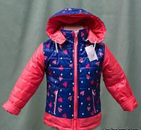 Красивая детская утепленная куртка на флисе