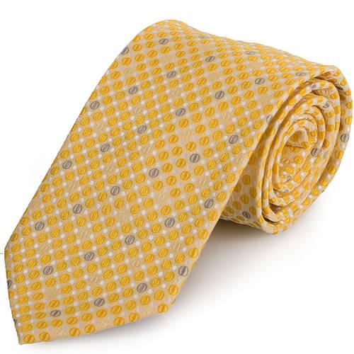 Оригинальный мужской широкий галстук SCHONAU & HOUCKEN (ШЕНАУ & ХОЙКЕН) FAREPS-40 желтый