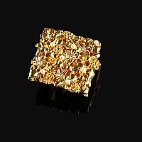 Ручка-кнопка Exclusive с кристаллами MONE GOLD 6806-45KRG золото