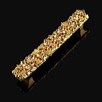 Ручка-скоба Exclusive с кристаллами MONE GOLD 6806-96KRG золото 96 мм, фото 1