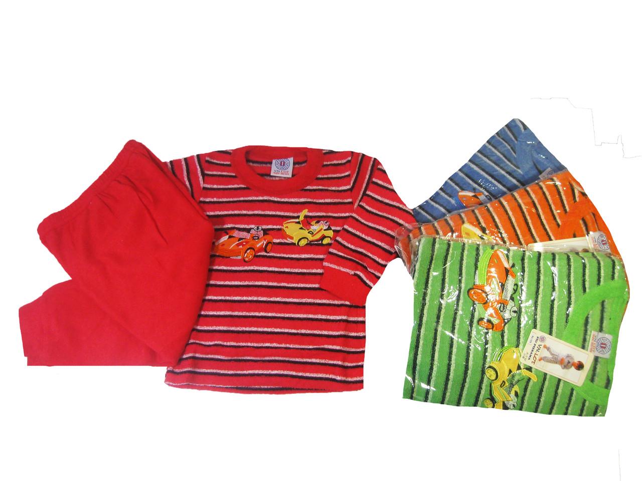 Пижама махровая с начёсом для мальчиков, размеры 86/92-134/140 арт. 128,126