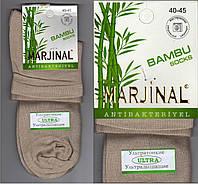 Ароматизированные мужские носки ультратонкие ультрадышащие  MARJINAL бамбук 40-45р бежевые НМП-8