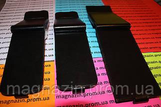 Кожаный чехол книжка для мобильного телефона Lenovo А760 (черный), фото 3