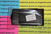Кожаный чехол книжка для мобильного телефона Lenovo А390 (черный)