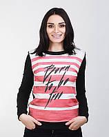 Стильная женская кофта из ткани двунитка