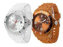 Наручные кварцевые часы Detomaso Colorato Date 44мм - 6 вариантов