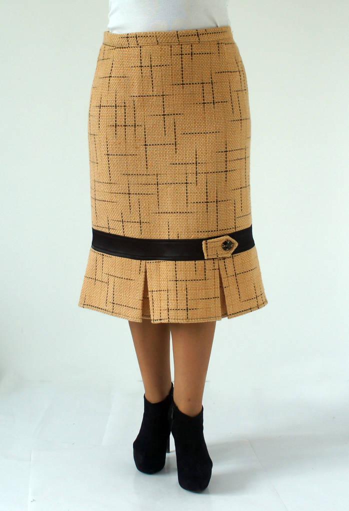 Теплая юбка из пальтовой ткани