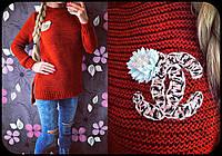 Модный женский свитер Корона