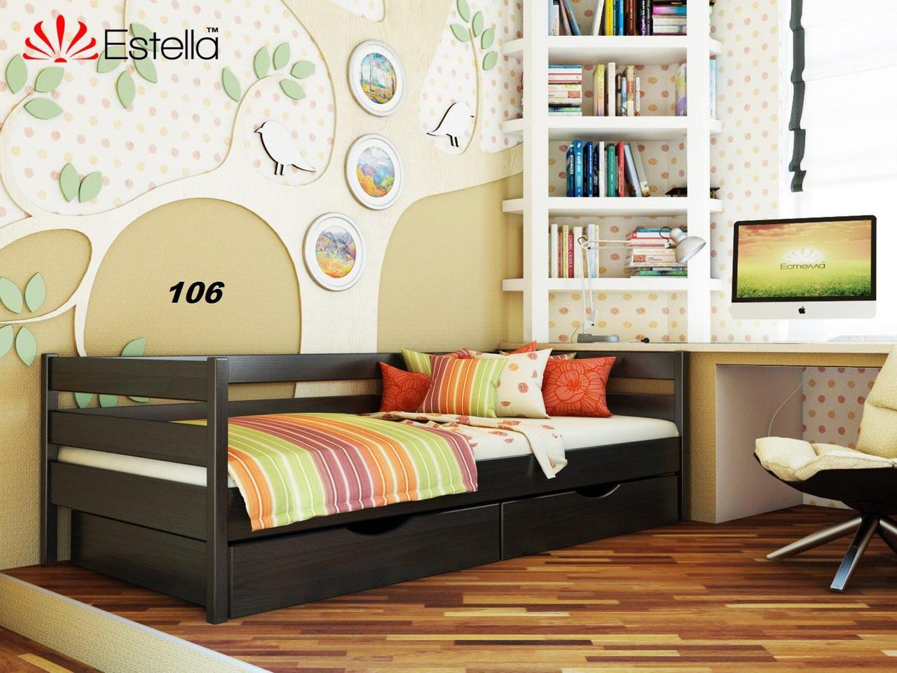 Детская Кровать Нота Бук Щит 106 (Эстелла-ТМ)