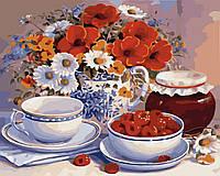 Картина по номерам Идейка Приглашение на чай (KH2029) 40 х 50 см