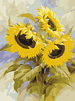 Картина-раскраска Идейка Подсолнухи (KH2058) 40 х 50 см