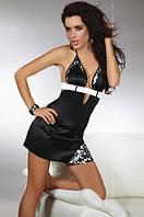 Нижнее эротическое белье, Livia Corsetti, LALIMA, черный атлас пеньюар