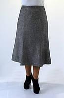 Женская шерстяная юбка серого цвета