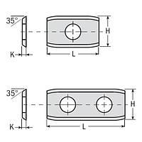 Сменные ножи с 2х сторонней заточкой 20×12×1,5  CMT Италия