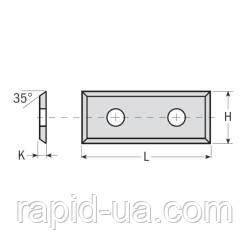Сменные ножи с 4х сторонней заточкой 49,5×19×1,5  CMT Италия