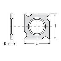 Сменные ножи с 4х сторонней заточкой 18×18×1,95  CMT Италия