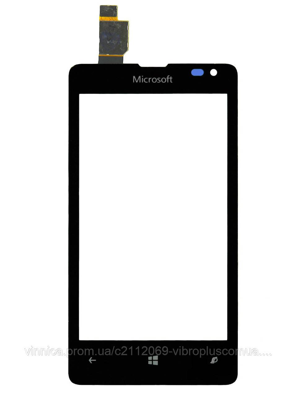 Тачскрин (сенсор) Microsoft Lumia 435 DS, Lumia 532 (RM-1069) h/c, black (черный)