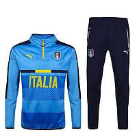 Спортивный костюм Puma, сборная Италия, голубой (ЕВРО 2016). Футбольный, тренировочный. Сезон 16/17