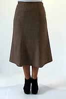 Женская шерстяная юбка коричневого цвета