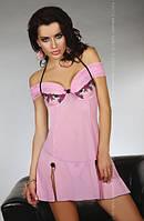 Нижнее эротическое белье, Livia Corsetti, CHAMELI, розовый пеньюар, вышивка