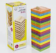 Игра Башня разноцветная из 54 брусков