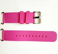 Розовый силиконовый ремешок для детских часов с GPS трекером , фото 1