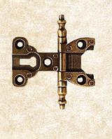 Петля врезная фигурная классическая ZM-CD-213-AB античная бронза, фото 1