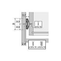 Направляющая телескопическая KA 5332 L=350мм Hettich