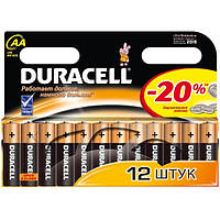 Батарейки DURAСELL Basic AA  1.5V LR6 12шт Бельгия