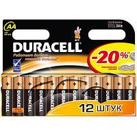 Батарейки DURAСELL Basic AA 1.5V LR6 12 шт. Бельгия (пальчиковые)