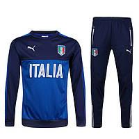 Спортивный костюм Puma, сборная Италия, синий (ЕВРО 2016). Футбольный, тренировочный. Сезон 16/17