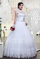 Свадебное пышное платье, фатин