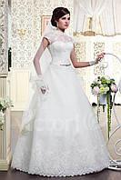 Самое красивое свадебное платье с кружевным лифом