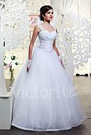 Свадебное платье  пышное, на широких брителях