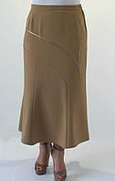 Женская юбка Годе молочного цвета