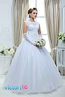 Свадебное платье пышное с закрытым лифом