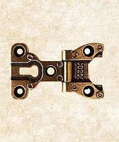 Петля врезная фигурная классическая ZM-CD-206-AB античная бронза, фото 1
