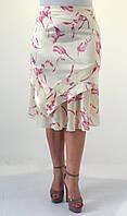 Женская летняя юбка с цветами