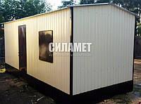 Бытовки каркасные строительные, вагончики 6х2.4 м