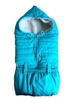 Конверт-одеяло детский  из плащевки на овчине осень-зима(трансформер)