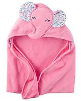 Полотенце с уголком Розовые слоники Carter's