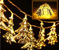 Светодиодная гирлянда Новогодние ёлочки 2,5м 20 LED, фото 1