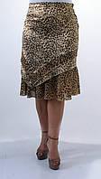 Женская летняя юбка с леопардовым принтом