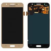 Дисплей для Samsung J500F/DS Galaxy J5, J500H/DS Galaxy J5, J500M/DS Galaxy J5 + с сенсором (тачскрином) Gold