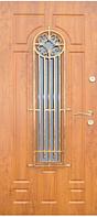 Входные двери со стеклом и ковкой 26 тм Портала