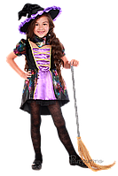Детский карнавальный костюм для девочки ВЕДЬМОЧКА код 2089