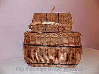 Пикниковая сумка-корзина из лозы, фото 1